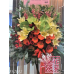Green Anthurium Yellow Lilies Opening Flower Stand